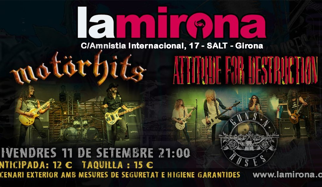 Attitude For Destruction + Motörhits en La Mirona (Girona)