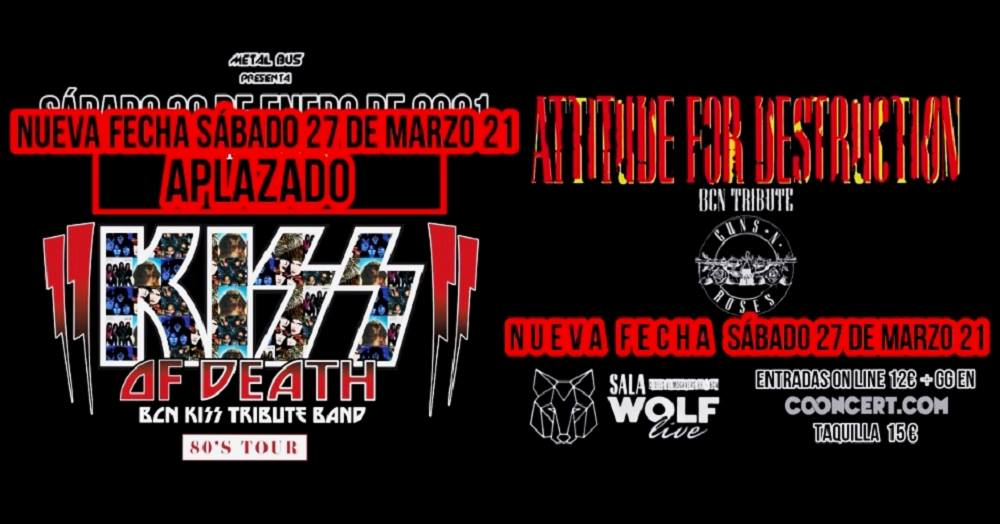 Attitude For Destruction + Kiss of Death en Sala Wolf en Barcelona